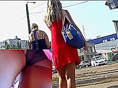Legal Age Teenager cheerleader up petticoat