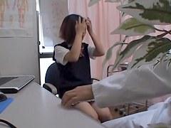 Doc making checkup of Japanese schoolgirls on hidden cam
