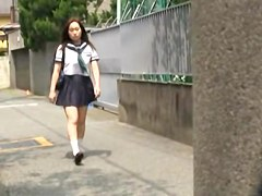 Hidden camera action with private teacher messing with his busty hot student