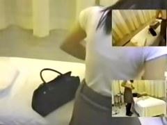 Adorable Japanese fingered in spy cam massage movie