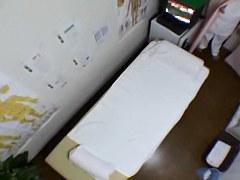 Japanese teen fingered hard in spy cam massage video