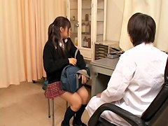 Porn movie with twat fingered very hard by japanese doctor