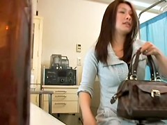 Asian slut fucked hard in her vagina by the gynecologist