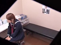 Lustful bun fucked by japanese doctor in kinky spy cam video