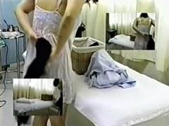 Busty Japanese enjoys a very hot massage on hidden camera