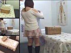 Curvy Japanese enjoys a hot massage on hidden camera