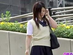 Hot Jap schoolgirls losing their pants to sharking