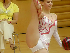 Smoking hot rhythmic gymnastics girl