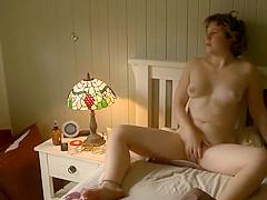 Rough masturbation caught on hidden cam
