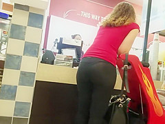 Sexy milf in transparent tights
