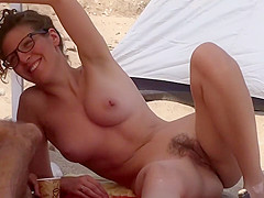 Just wait for her legs to spread open