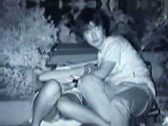 Hidden cam video of an Asian couple having hot sex in public