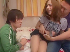 CUTE JAP WIFE FORCE TO FUCK WITH HER HUSBAND VOYEUR...
