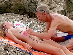 Girls on the Beach with Hairy Pussy. Part 1