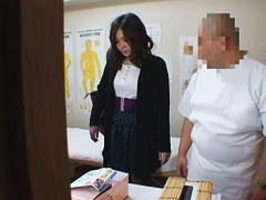 Medical voyeur massage video starring a plump Asian wearing black panties