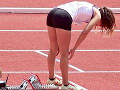 Athletic teens 18 yro voyeur tight ass spandex lycra part1